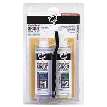DAP DAP KWIK SEAL GROUT RECOLOR KIT-ALMOND Almond - Tile Grout ...