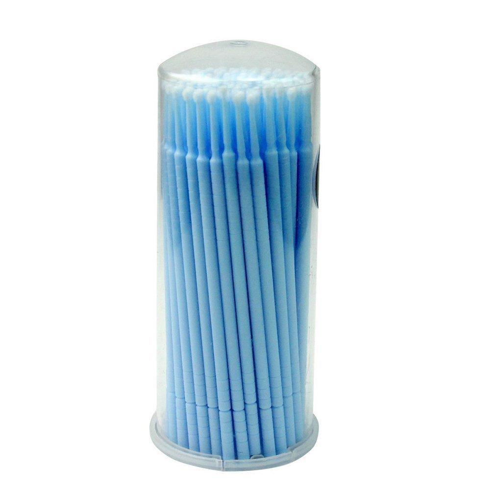 Frcolor monouso micro Brush applicatori mascara per ciglia estensione 100pcs (blu)