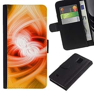 Billetera de Cuero Caso Titular de la tarjeta Carcasa Funda para Samsung Galaxy Note 4 SM-N910 / Power Magic Abstract Powerful / STRONG