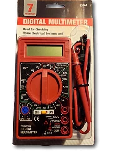 7 Function Digital Multimeter New 90 Day Warranty by Cen-Tech 7 Function Digital Multimeter