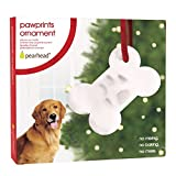 Pearhead Paw Prints Dog or Cat Pet Bone Ornament with included Imprint Kit - Perfect Pet Holiday Keepsake