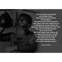 MOTIVATIONAL - ROCKY BALBOA 13 - BOXING - QUOTATIONS - A3 poster - A3 poster - Quote Sign Poster Print Picture, SPORTS, ROCKY by Salopian Sales