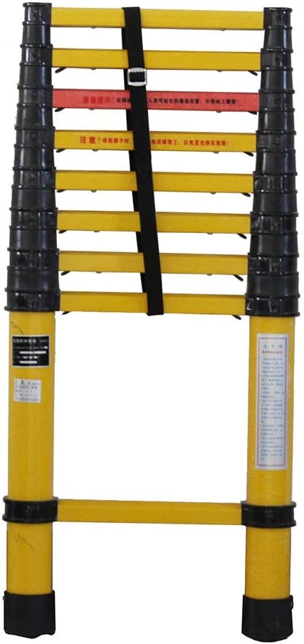 Escalera telescópica multiusos no conductora con protección de dedos, escalera de extensión plegable para bricolaje en el desván, capacidad de 330 libras (tamaño: 2 m): Amazon.es: Bricolaje y herramientas