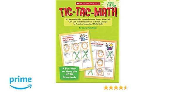 Amazon.com: Tic-Tac-Math: 50 Reproducible, Leveled Game Sheets ...