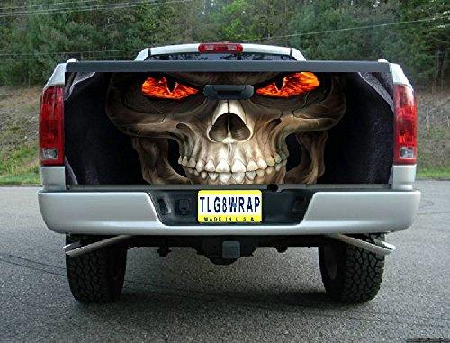 Avery T16 Grim Reaper Skull Fire Eyes Tailgate Wrap Vinyl