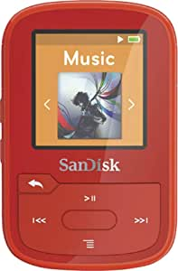 SanDisk - Clip Sport Plus 16GB Bluetooth MP3 Player (Red)