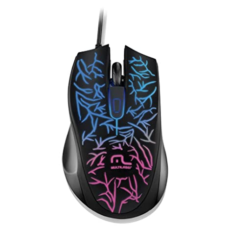 Mouse Usb Óptico Led 1000 Dpis Gamer Fusion Mo227 Multilaser