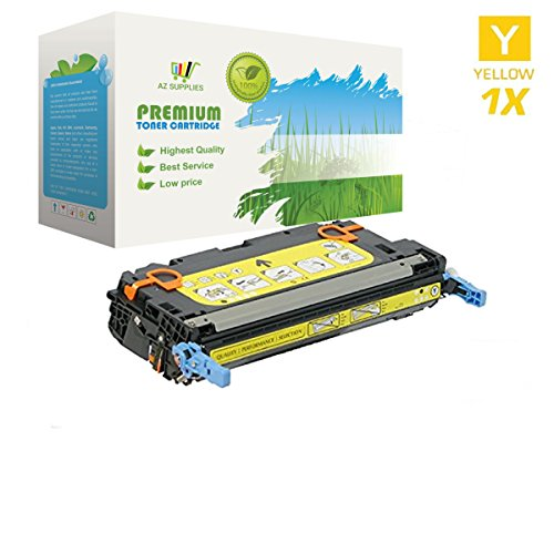 AZ SUPPLIES Toner | 30% more Print Yield | as a Replacement for HP 501A Q6472A Yellow compatible with HP Color LaserJet 3600, 3600N, 3600DN