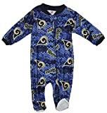 St. Louis Rams NFL Baby Boys All Over Print Sleeper, Blue