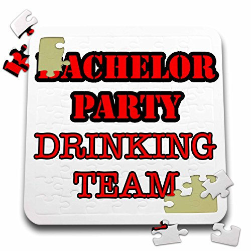 Stag,Bachelor Party - Bachelor Party Drinking Team Red - 10x10 Inch Puzzle (pzl_261062_2) by 3dRose