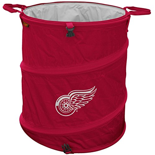 Logo Outdoor Cooler, Detroit Wings 3-in-1 Hamper Collapsible Cooler Red ()