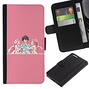 JackGot ( Historieta japonesa atractiva ) Apple (5.5 inches!!!) iPhone 6+ Plus / 6S+ Plus la tarjeta de Crédito Slots PU Funda de cuero Monedero caso cubierta de piel