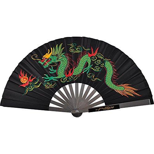 - TMAS Chinese Iron Fan (Dragon), Black Satin