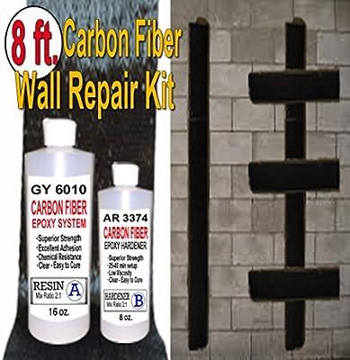 8 ft-Carbon Fiber-Basement Wall Crack Repair Kit