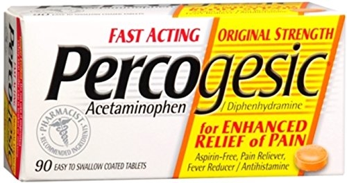 (Percogesic Tablets 90 Tablets [Acetaminophen/Diphenhydramine] (Pack of 6))