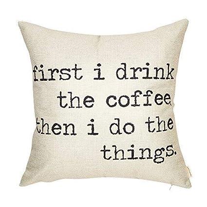 Amazoncom Athena Bacon First I Drink The Coffee Then I Do The