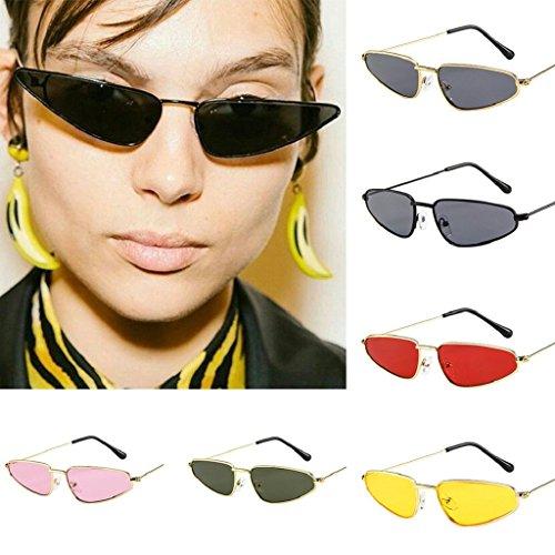 Vintage Petit Lunettes Dames Sunglasses Malloom Jaune soleil Cadre de Femmes Eye Cat Retro AwIA0