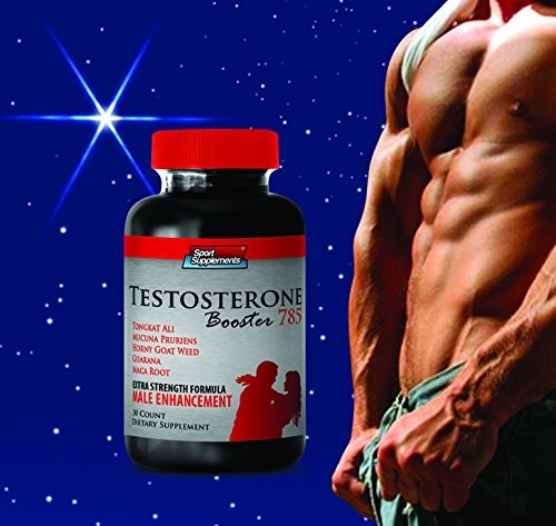 Testosterone Booster for Men - Top Testosterone Booster 785 - Premium Natural Testosterone Boosting Formula to Increase Libido and Muscle Mass (1 Bottle) by Sport Supplements, LLC