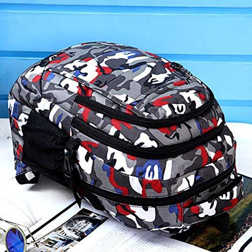 Girls Satchel Red Nylon Bookbags Travel School Climb Green Men Backpack Bag Kanpola Shoulder Boys 5qHUwqz