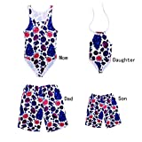 Father and Son Matching Swim Trunks, Mommy and Me One Piece Swimsuits Fruit Family Matching Bathing Suits (7-8 Years, Daughter(Swimwear))