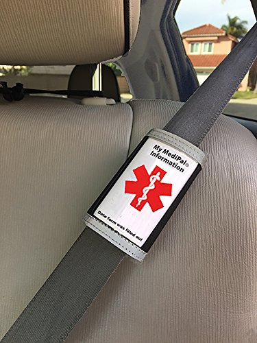 Medical Seatbelt ID Alerts Emergency Staff to patient's Health Condition: Ideal for Those with Autism, Diabetes, Alzheimer's, Stroke, Arthritis, Asthma, Allergies, on Multiple meds ()