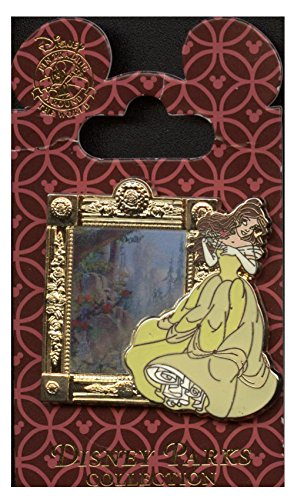 Disney Parks Enchanted Tales with Belle - Lenticular Magic Mirror Pin # 93468 Disney Enchanted Tales Belle