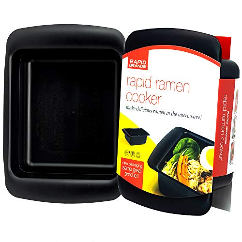 Rapid Ramen Cooker - Microwave Ramen in 3 Minutes - BPA Free and Dishwasher Safe - Black (Shark Hot Water Cleaners)