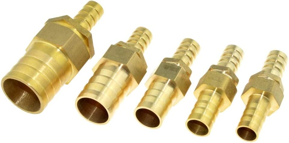 no logo WSF-Adapters 1pc Brass Copper 14mm Hose Barb to 16mm 19mm 25mm OD Hose Gas Coupler Connector Raccord Barb Reducer Pipe Fitting Air Tube Adapter Size : 14mm x 16mm