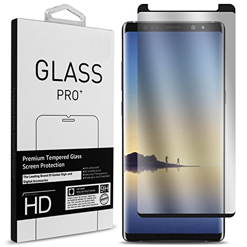 CoverON Galaxy Note 9 Tempered Glass Screen Protector, [InvisiGuard Series] Complete Full Front Screen Protector for Samsung Galaxy Note 9 [Case Friendly and Bubble-Free] - HD Clear with Black Rim