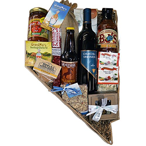 Nevada Shaped Taste of Nevada Basket by Flag Store of Nevada Inc.