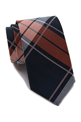 Ben Sherman Isley Plaid Silk Tie (Navy)