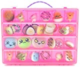Life Made Better Toy Organizer. Fits Up to 30 Squishy Phone Charms. Compatible With Ithee Charm Keychain, Random Jumbo Mini Soft Squishy, Trasfit Phone Charm Key Chain Strap- Pink