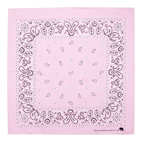 Elephant Brand Bandanas 100% cotton since 1898-12 Pack (Taffy Pink) ()