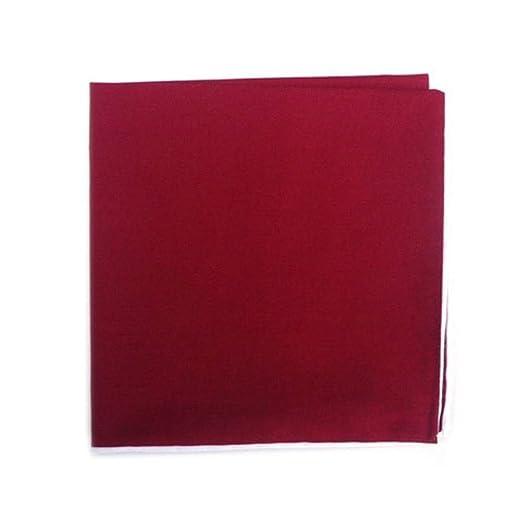 b3387564 The Tie Bar Red Cotton Pocket Square w/White Border at Amazon Men's  Clothing store: Handkerchiefs