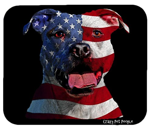 Crazy Mouse Pad (Dog Lovers Patriotic Pitbull Mouse Pad)