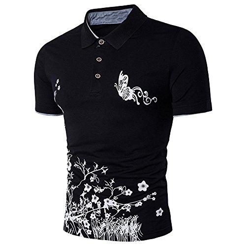 mens-teeneartime-slim-sports-short-sleeve-casual-polo-shirt-t-shirts-tops-l-black