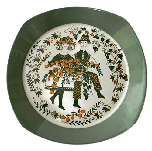 - Sicilia by Figgjo Norway 11.5 inches Chop Plate Platter Harvest Green