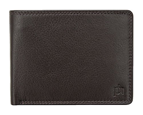 Protected Bi Cards Leather and Luxury Wallet RFID For Credit Brown Notes Brown 6 Fold Mens IqT7StwI