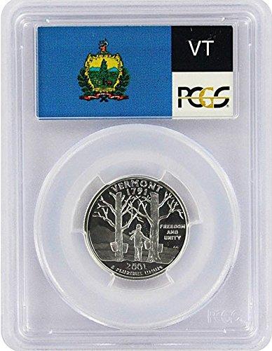 2001 Vermont State S Silver Proof Quarter PR-69 PCGS
