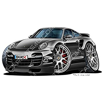 Porsche 911 Turbo S - Adhesivo para pared (vinilo), color negro, negro, medium (600mm): Amazon.es: Coche y moto