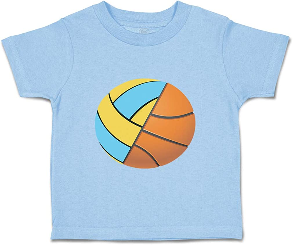 Custom Baby /& Toddler T-Shirt Ball Half Basketball Volley Boy Girl Clothes