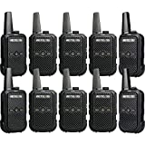 Retevis RT15 Two-Way Radio Rechargeable UHF 16 Channel VOX Scrambler Restaurant Mini Walkie Talkies with Charger 2 Way Radio Small (10 Pack)