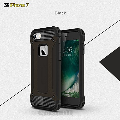 iPhone 8 / iPhone 7 Case, Cocomii Commando Armor NEW [Heavy Duty] Premium Tactical Grip Dustproof Shockproof Hard Bumper Shell [Military Defender] Full Body Dual Layer Rugged Cover Apple (Black)