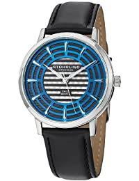 Stuhrling Original Men's 398.331516 Classic Winchester Colosseum Swiss Quartz Slim Blue Dial Watch