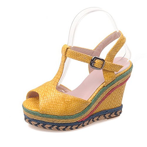 Giallo Diu01009 Cold Platforms An Lining Womens Colors Assorted Urethane Sandali Mule Ixv6zq