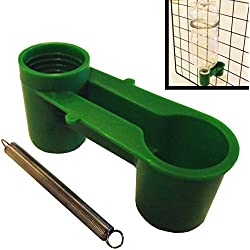 Rite Farm Products 12 Pack of Green Soda Pop Water Bottle Bird Drinker Cup & Spring Quail Dove Chicken Pigeon