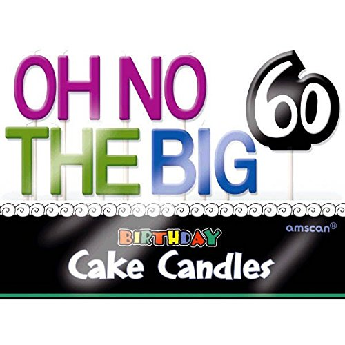 Amscan 177501 Oh No& 60 Toothpick Set Candles, 3