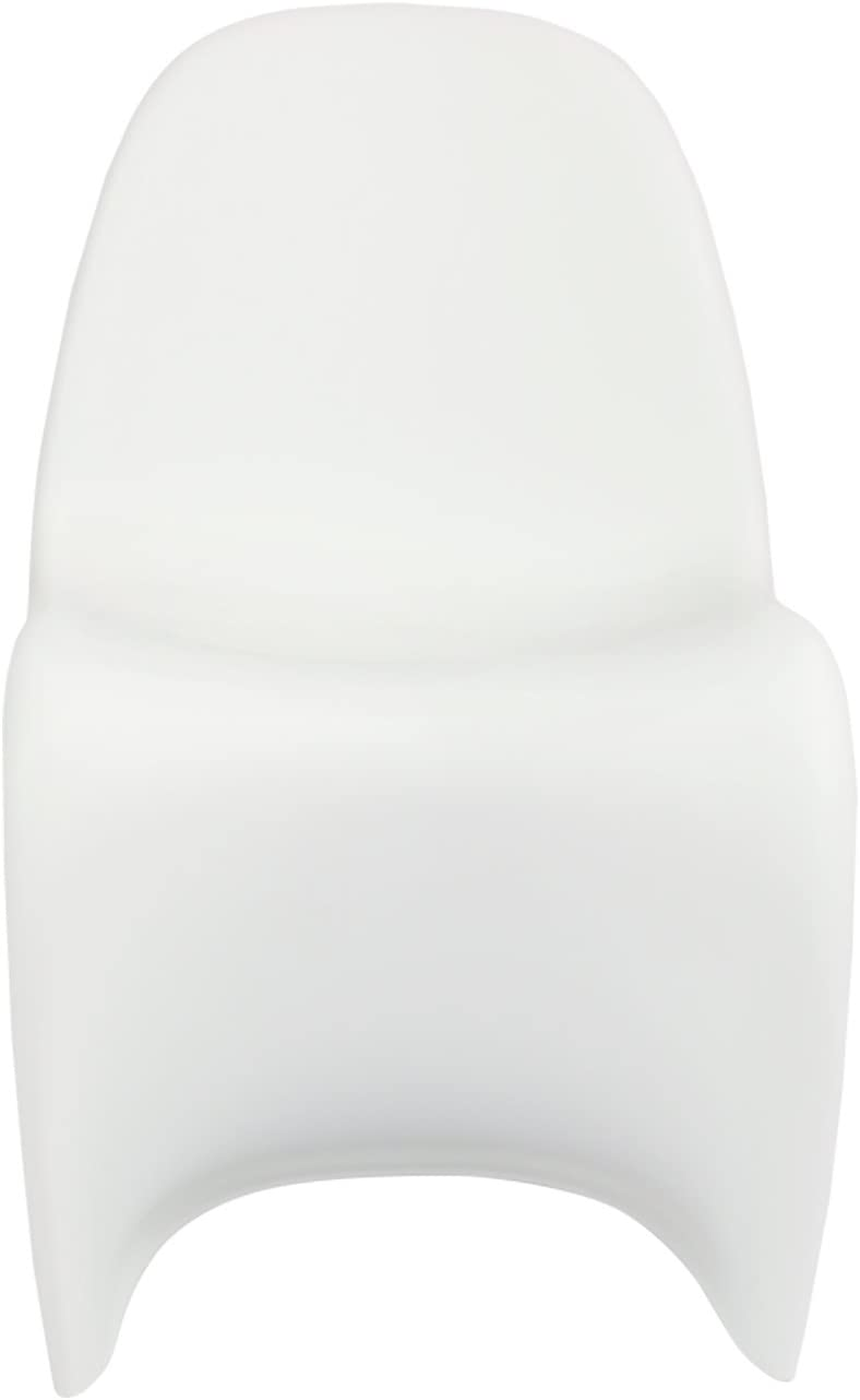 Silla Panton - Silla de Comedor de Polipropileno (Blanco)