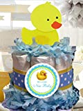 Rubber Ducky Duck Mini Diaper Cake - Handmade By LMK Gifts - Gift For Baby or Girl - Makes a Great Baby Shower Centerpiece