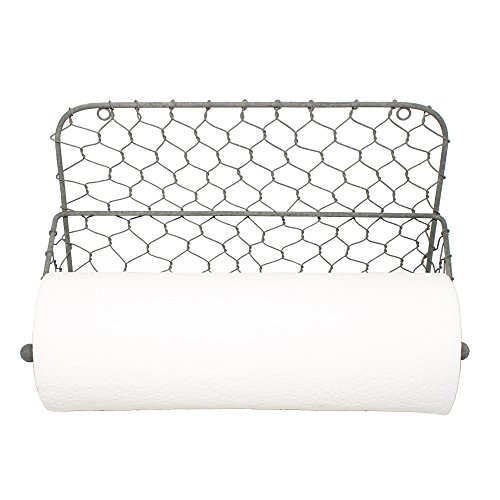 Chickens Paper (Wall Mount Chicken Wire Paper Towel Holder)